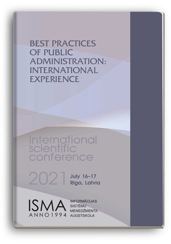 Cover for BEST PRACTICES OF PUBLIC ADMINISTRATION: INTERNATIONAL EXPERIENCE