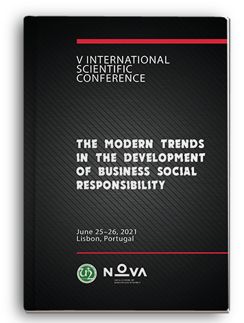 Cover for THE MODERN TRENDS IN THE DEVELOPMENT OF BUSINESS SOCIAL RESPONSIBILITY: V International scientific conference