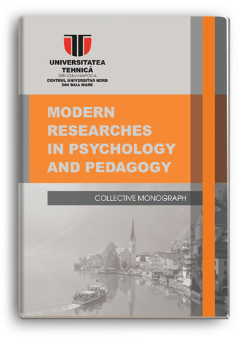 Cover for MODERN RESEARCHES IN PSYCHOLOGY AND PEDAGOGY